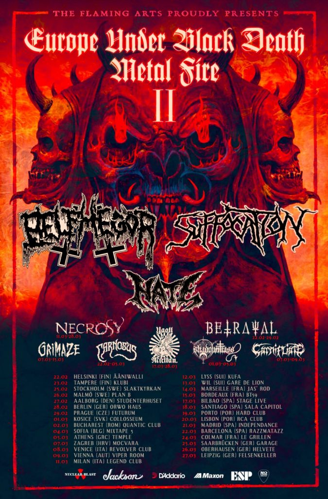 obscura qalma-sirius-belphegor-hate-suffocation-necrosy-Europe Under Black Death Metal Fire II-grimaze-grimhaze-betrayal-carnosus-carnosystour 2020